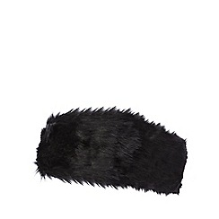 J by Jasper Conran - Black faux fur headband