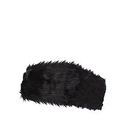 J by Jasper Conran - Black faux fur headband