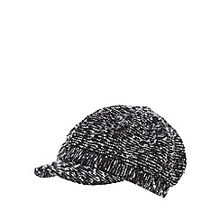 J by Jasper Conran - Grey tweed baker boy cap