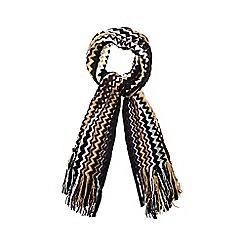 J by Jasper Conran - Black glitter stitched zig zag scarf