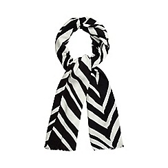 J by Jasper Conran - Black chevron scarf