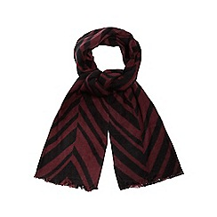 J by Jasper Conran - Dark red chevron scarf