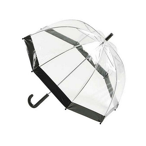 Totes - Black stripe pvc dome umbrella