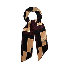 J by Jasper Conran - Gold colour block silk scarf