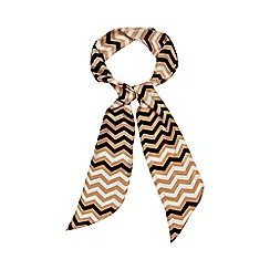 J by Jasper Conran - Gold chevrons silk scarf