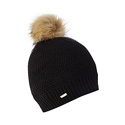 J by Jasper Conran - Black faux fur beanie