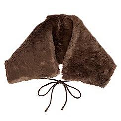 J by Jasper Conran - Brown faux fur collar