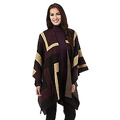 J by Jasper Conran - Purple square colour block wrap