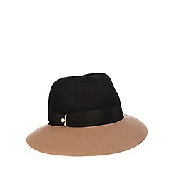 J by Jasper Conran - Two-tone black fedora