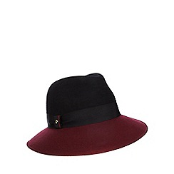 J by Jasper Conran - Black two tone fedora hat