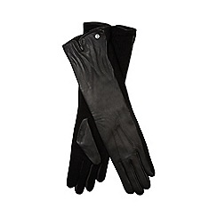 J by Jasper Conran - Black leather long gloves