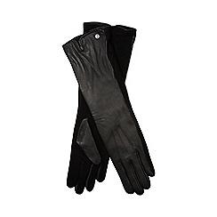 J by Jasper Conran - Black leather long gloves