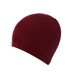 J by Jasper Conran - Dark Red cashmere hat