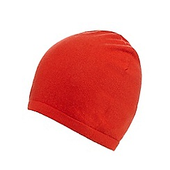 J by Jasper Conran - Orange cashmere beanie hat
