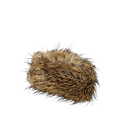 J by Jasper Conran - Natural faux fur cossack hat