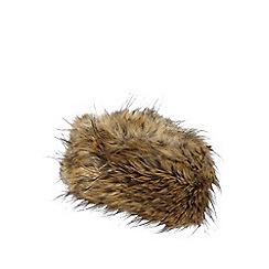 J by Jasper Conran - Natural faux fur cossack hat