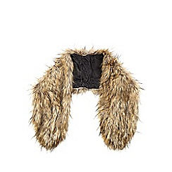 J by Jasper Conran - Light brown faux fur stole