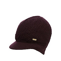 J by Jasper Conran - Dark red chunky knit cap
