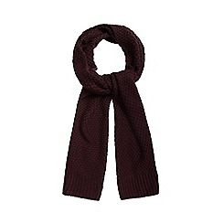 J by Jasper Conran - Dark red chunky knit scarf