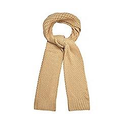 J by Jasper Conran - Camel chunky knit scarf
