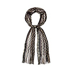J by Jasper Conran - Gold knitted chevron scarf