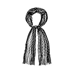J by Jasper Conran - Black knitted chevron scarf