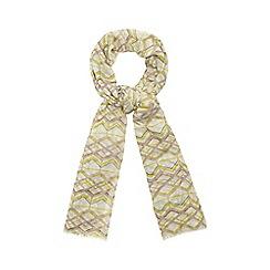 Principles by Ben de Lisi - Designer lime geo print scarf