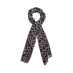 Principles by Ben de Lisi - Designer navy geo print scarf