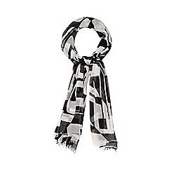Betty Jackson.Black - Designer black geo print scarf