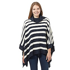 Principles by Ben de Lisi - Navy striped poncho