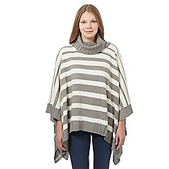 Principles by Ben de Lisi - Grey striped poncho