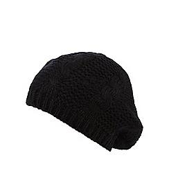 Betty Jackson.Black - Black cable knit beret