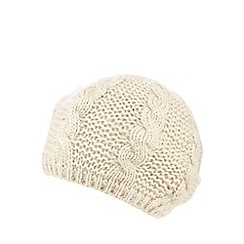 Betty Jackson.Black - Ivory cable knit beret