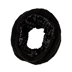 Betty Jackson.Black - Black cable knit snood