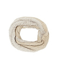 Betty Jackson.Black - Ivory cable knit snood
