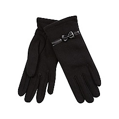 Isotoner - Classic bow detail glove in black