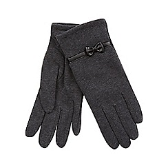 Isotoner - Classic bow detail glove in grey