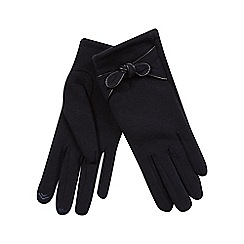 Isotoner - Smartouch bow detail glove in navy
