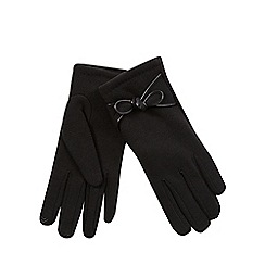 Isotoner - Smartouch bow detail glove in black