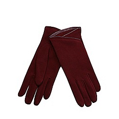 Isotoner - Dip front thermal glove in burgundy