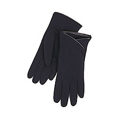 Isotoner - Dip front thermal glove in navy