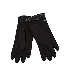 Isotoner - Dip front thermal glove in black