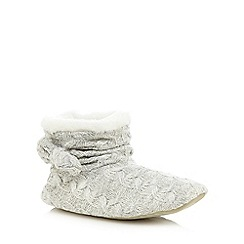 Totes - Cable knit bow bootie in grey