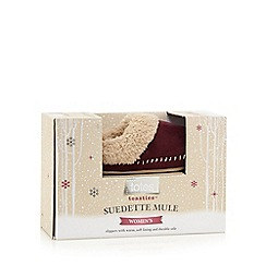 Totes - Suedette mule in berry