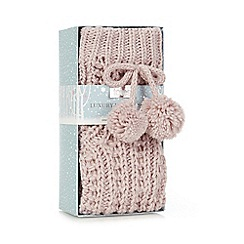 Totes - Sparkle yarn crochet sock in pink