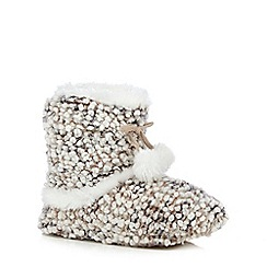 Totes - Bobble knit bootie in beige