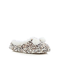 Totes - Bobble knit mule in beige