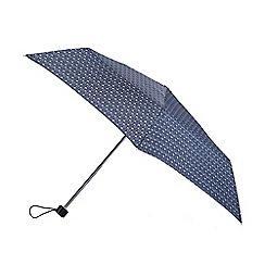 Isotoner - Navy daisy stems print umbrella