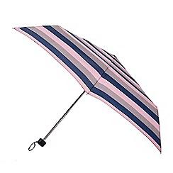 Isotoner - Multicoloured block stripe print umbrella