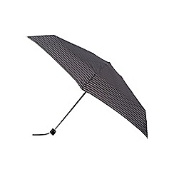 Isotoner - Black and white wavy dots print umbrella